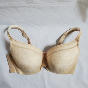 Cacique Ivory Bal Modern Lace Overlay Bra, 44DD